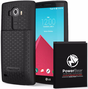 PowerBear LG G4 Extended Battery & Back Cover + Quick Charge 3.0