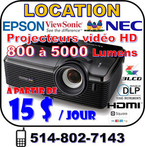 LOCATION Projecteur et toile Projector & screen RENTAL < 5000 Lm