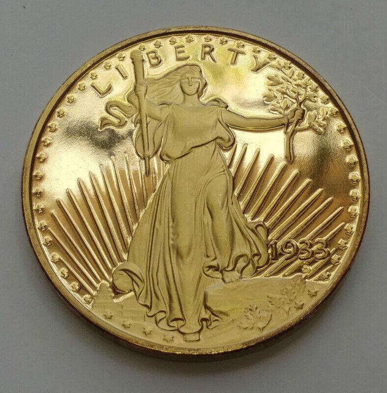 1933 Commemorative Copper Gold Overlay Coin