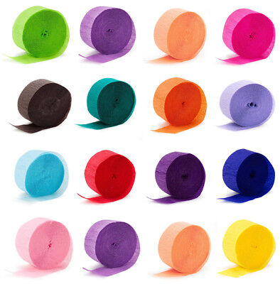 Crepe Rolls Streamer Paper Party Wedding Celebration Birthday Decoration Colours - Crepe Paper Rolls