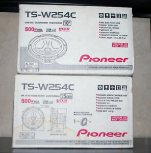 PIONEER TSW254C 10-Inch Subwoofer Pair for Car Stereo