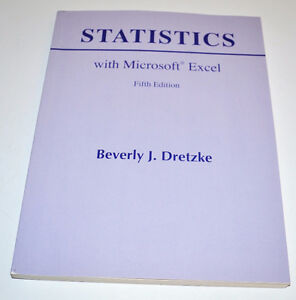 CNA First year Engineering Statistics with Microsoft Excel Book St. John's Newfoundland image 1