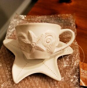 Ornamental Cup and Saucer / Seashell Design Kawartha Lakes Peterborough Area image 1