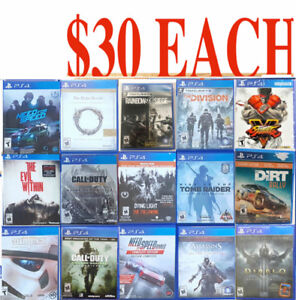 PS4 GAMES ( $30 EACH **B**) PICK UP ONLY - Playstation 4