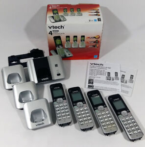 VTech CS6519-4 Phone with Caller ID-Call Waiting 4 Handsets