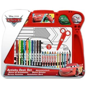 NEW DISNEY CARS TABLE TOP ACTIVITY DESK ART KIDS COLOURING CHILDRENS DRAWING SET