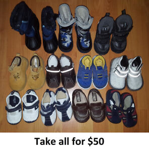Sizes 5 Baby Boy Toddler Shoes & Boots Lot - 11 Pairs for $50