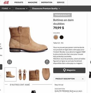 Bottines en daim H&M