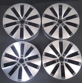 "Genuine 18"" VW Bilbao Alloy Wheels"