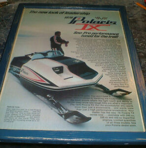 Polaris snowmobile ads/pics -10 diff.1970's-2004- mounted