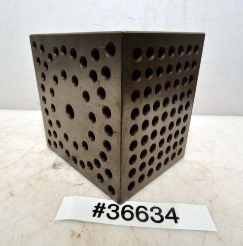 "Machinist Set Up Fixture Block 5""x 5""x 4"" (Inv.36634)"