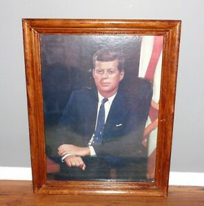 Vintage Fabian Bachrach Picture Print of J.F. Kennedy-Reduced!