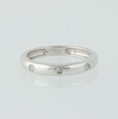 Diamond Wedding Band - 14k White Gold Women's Ring .15ctw