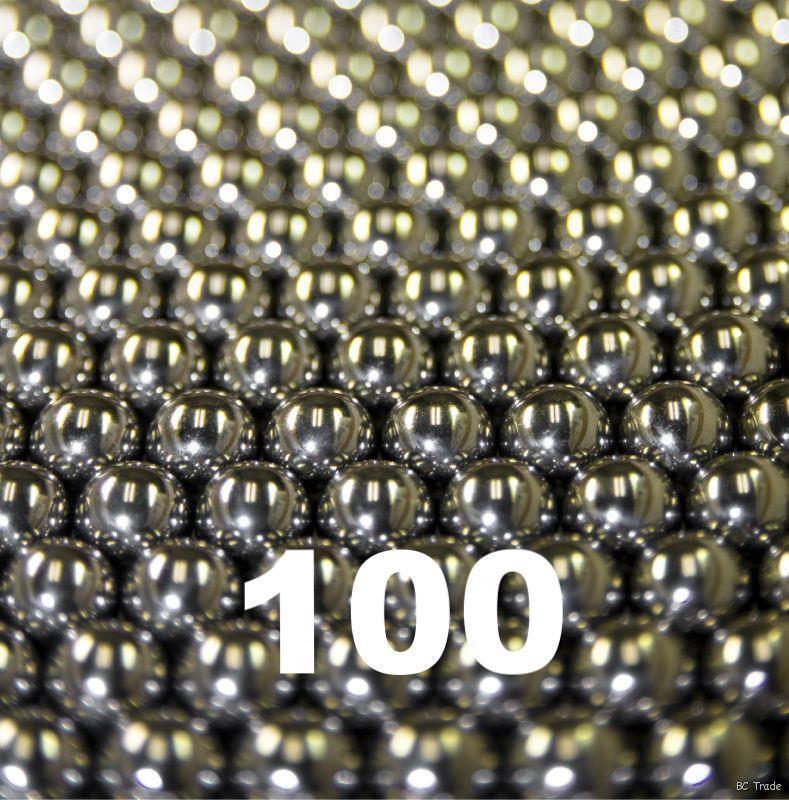 "100 1/8"" Inch Stainless Steel Nail Polish Mixing Agitator Balls"