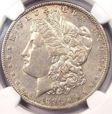 1891-O VAM-3A Weak E Clash Morgan Silver Dollar $1 - NGC AU - $1,000 Value in AU