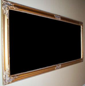 Mirroir Antique OR Encadré en Bois/ Antique Wooden Frame Mirror