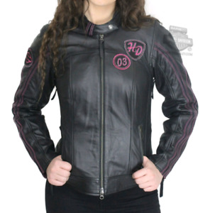 Ladies Leather Harley Jacket- Large