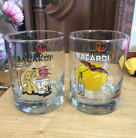 COLLECTIBLE BACARDI BAR GLASSES $5 EA. CELEBRATING 150 YEARS