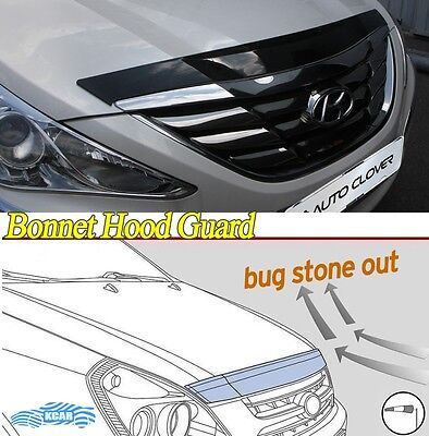 Bonnet Hood Guard Protector Deflector Shield Silver for Hyundai Sonata 2010~2013