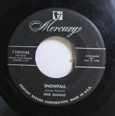 50'S & 60'S 45 Pete Rugolo - Snowfall / Later Team On Columbia