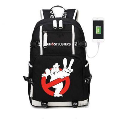 Ghost Busters USB Backpack Black Laptop Shoulder Travel Bag Kids  School Bags - Ghost Busters Backpack