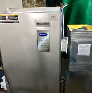 Propane/ natural gas furnace and hot water tank