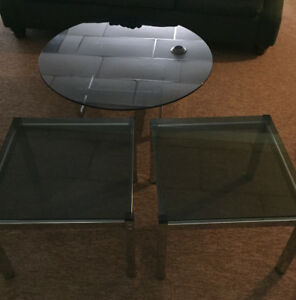Glass tables 3 pc