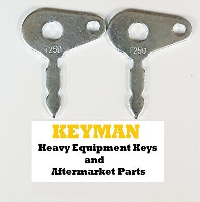 2 Ford New Holland Tractor Heavy Equipment Ignition Key Part T250 Many Models