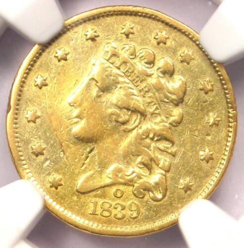 1839-O Classic Gold Quarter Eagle $2.50 - NGC XF Details (EF) - Rare Coin!