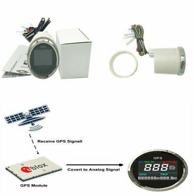 52MM MOTORCYCLE DIGITAL LCD GPS SPEEDOMETER 0999 MPH KNOTS KMH WAT