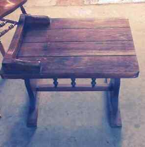 Vintage Heavy Wood Table Price reduced to $20.00