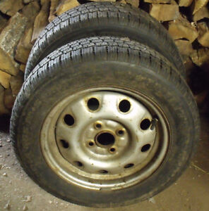 2 x P195/60R14 Winter King Winter Tires & Rims Kawartha Lakes Peterborough Area image 1