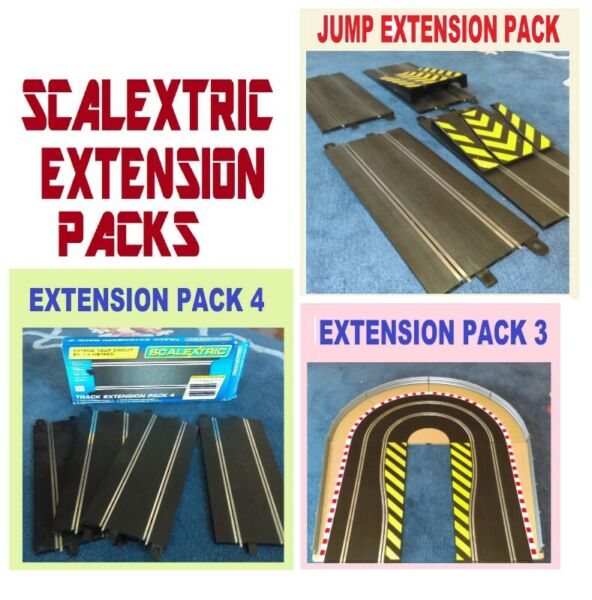 Various Scalextric Extension Packs.