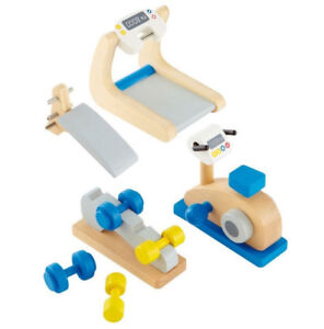 Brand New Hape Wooden Doll House Furniture Home Gym Playset
