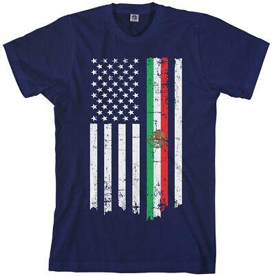 Mexican American Flag Men's T-Shirt Mexico Descent US -