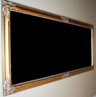 Mirroir Antique Encadré en Bois, Antique Wooden Frame Mirror