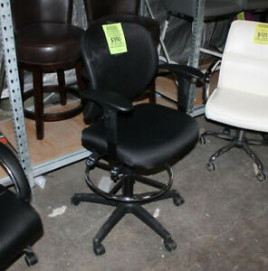 Ergonomic Mesh Drafting Stool Adjustable Arm