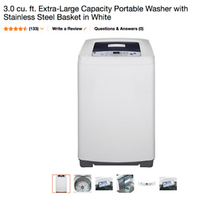 NEW GE 3.0 cu Extra-Lrg Capacity Portable Washer FREE DELIVERY