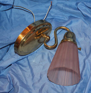 Wall Sconce with pink shade