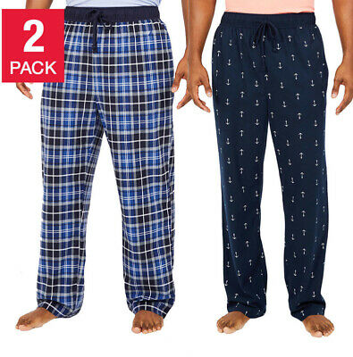 NEW Nautica Fleece Men's Pajama Lounge Pants Blue Set of 2 Size Large L