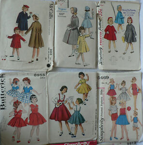Vintage Girls Clothing Patterns, most circa late 1950s