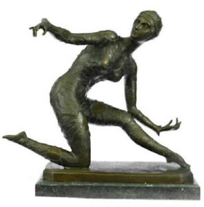 BRONZE ART DECO DANCER SCULPTURE, SIGNED D.H.CHIPARUS