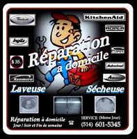 *RÉPARATION* (MÊME JOUR) $35. Laveuse / Sécheuse WHIRLPOOL...