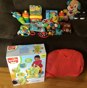 Lot of Gently Used Toys for Babies 0-12 Months.Playmat, Rattles,