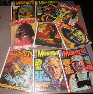 FAMOUS MONSTERS OF FILMLAND MAGAZINES