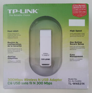 TP-Link TL-W821N wireless N USB adapter, new, original pkg.