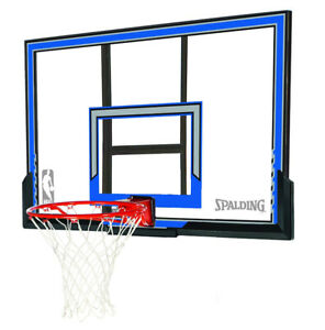 NEW SPALDING 50-INCH BASKETBALL BACKBOARD POLYCARBONATE COMBO