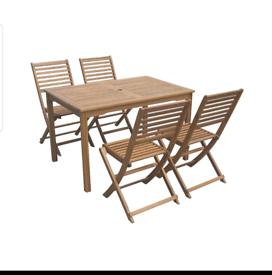 Deluxe Wooden 4 Seater Garden Furniture Set