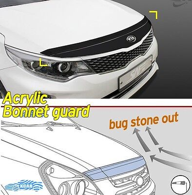 Acrylic Front Bonnet Hood Guard Garnish Deflector D-630 for KIA Optima 2016~2020