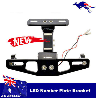 MOTORCYCLE LED NUMBER PLATE INDICATOR BRACKET MOUNT HONDA <em>YAMAHA</em> SUZUI
